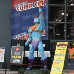 Mattel's Faker Statue guarded to the entrance to this year's NY Comic Con, held at the Jacob Javitz Center in Manhattan.