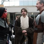 Peace in the Galaxy: Jedi and Sith put aside their millenia-long conflict and enjoyed the sights and sounds Comic Con had to offer.  Photo by Nicholas C. Martinez.