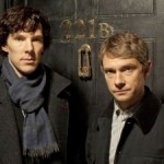 The boys of 221B Baker Street - - Benedict Cumberbatch (l.) as Holmes, Martin Freeman as Watson.
